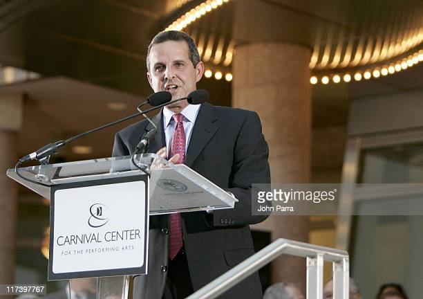 Mayor Manny Diaz during Carnival Center Grand Opening Ceremony at Carnival Center for the Performing Arts in Miami Florida United States