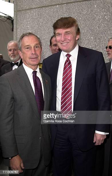 Mayor Michael Bloomberg and Donald Trump during 20th Anniversary Gala for Vietnam Veterans at Vietnam Veterans Memorial Plaza in New York City New...