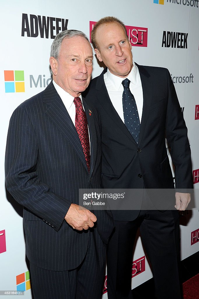 Mayor <a gi-track='captionPersonalityLinkClicked' href=/galleries/search?phrase=Michael+Bloomberg&family=editorial&specificpeople=171685 ng-click='$event.stopPropagation()'>Michael Bloomberg</a> and Keith Lorizio attend the 2013 Adweek Hot List gala at Capitale on December 2, 2013 in New York City.