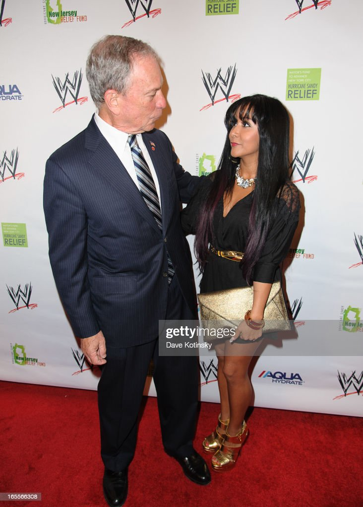 Mayor <a gi-track='captionPersonalityLinkClicked' href=/galleries/search?phrase=Michael+Bloomberg&family=editorial&specificpeople=171685 ng-click='$event.stopPropagation()'>Michael Bloomberg</a> and <a gi-track='captionPersonalityLinkClicked' href=/galleries/search?phrase=Nicole+Polizzi&family=editorial&specificpeople=6586259 ng-click='$event.stopPropagation()'>Nicole Polizzi</a> attends the Superstars For Sandy Relief at Cipriani Wall Street on April 4, 2013 in New York City.