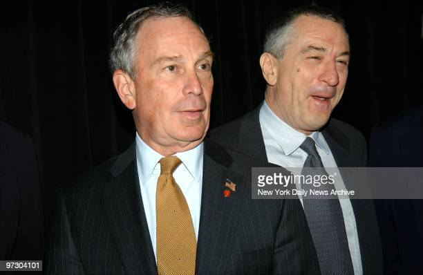 Mayor Michael Bloomberg and Robert De Niro attend the Tribeca Film Festival screening of 'Brotherhood' at the Tribeca Performing Arts Center The...