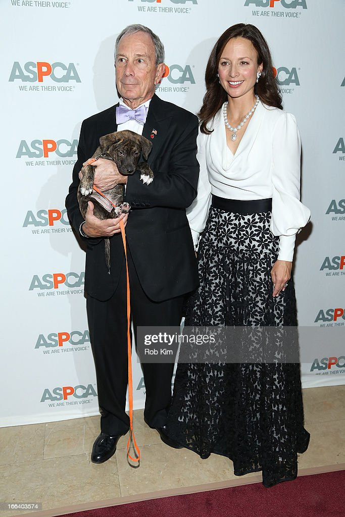 Mayor <a gi-track='captionPersonalityLinkClicked' href=/galleries/search?phrase=Michael+Bloomberg&family=editorial&specificpeople=171685 ng-click='$event.stopPropagation()'>Michael Bloomberg</a> (L) attends the 16th Annual ASPCA Bergh Ball at The Plaza Hotel - 5th Avenue on April 11, 2013 in New York City.