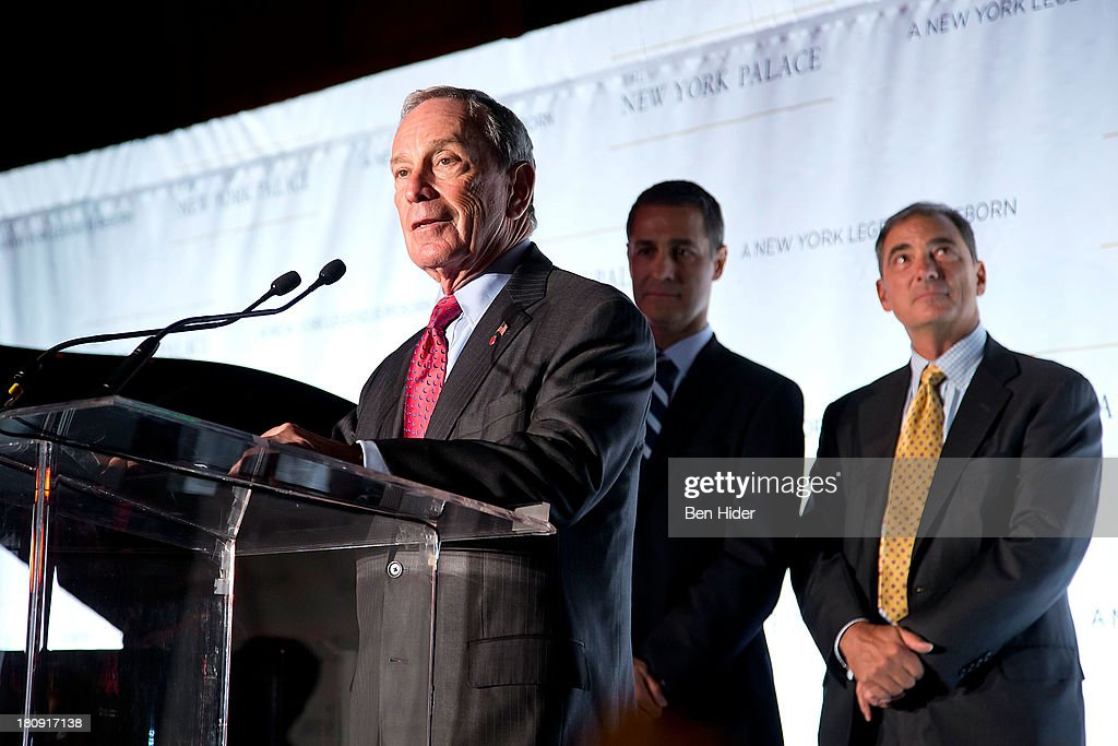 Mayor <a gi-track='captionPersonalityLinkClicked' href=/galleries/search?phrase=Michael+Bloomberg&family=editorial&specificpeople=171685 ng-click='$event.stopPropagation()'>Michael Bloomberg</a> attends the New York Palace's unveiling celebration on September 17, 2013 in New York City.