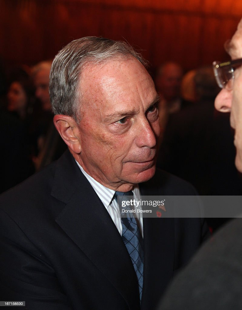 Mayor <a gi-track='captionPersonalityLinkClicked' href=/galleries/search?phrase=Michael+Bloomberg&family=editorial&specificpeople=171685 ng-click='$event.stopPropagation()'>Michael Bloomberg</a> attends The Through The Kitchen Party Benefit For Cancer Research Institute on April 21, 2013 in New York City.