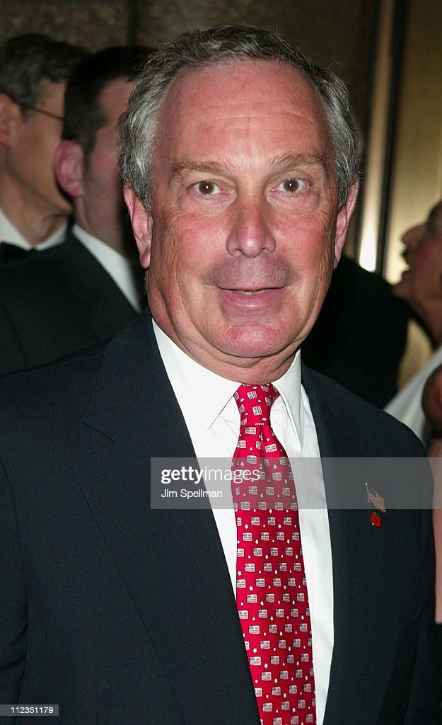 Mayor <a gi-track='captionPersonalityLinkClicked' href=/galleries/search?phrase=Michael+Bloomberg&family=editorial&specificpeople=171685 ng-click='$event.stopPropagation()'>Michael Bloomberg</a> during 56th Annual Tony Awards - Arrivals at Radio City Music Hall in New York City, New York, United States.