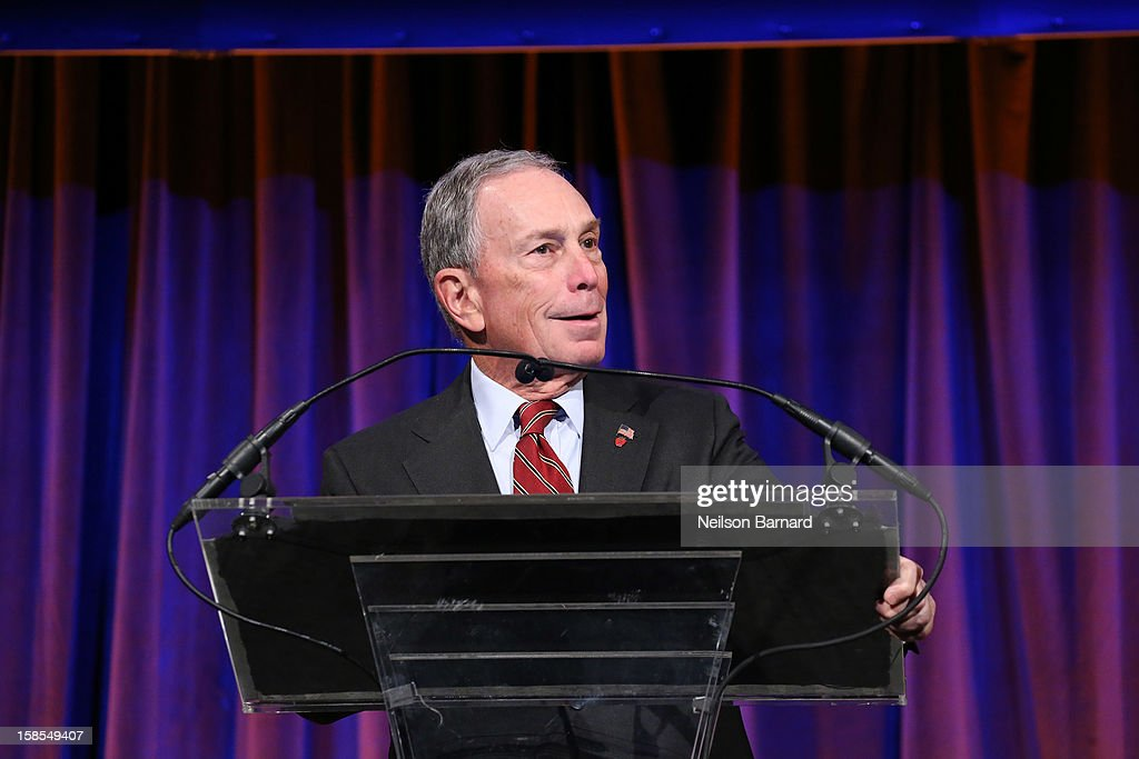 Mayor <a gi-track='captionPersonalityLinkClicked' href=/galleries/search?phrase=Michael+Bloomberg&family=editorial&specificpeople=171685 ng-click='$event.stopPropagation()'>Michael Bloomberg</a> speaks on stage during The Humane Society of the United States' To the Rescue! New York Gala at Cipriani 42nd Street on December 18, 2012 in New York City.
