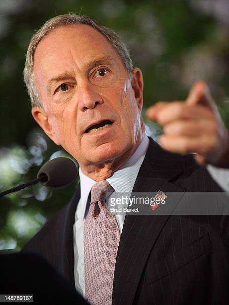 Mayor Michael R Bloomberg attends Harlem Week 38th Anniversary Gala at Gracie Mansion on July 19 2012 in New York City