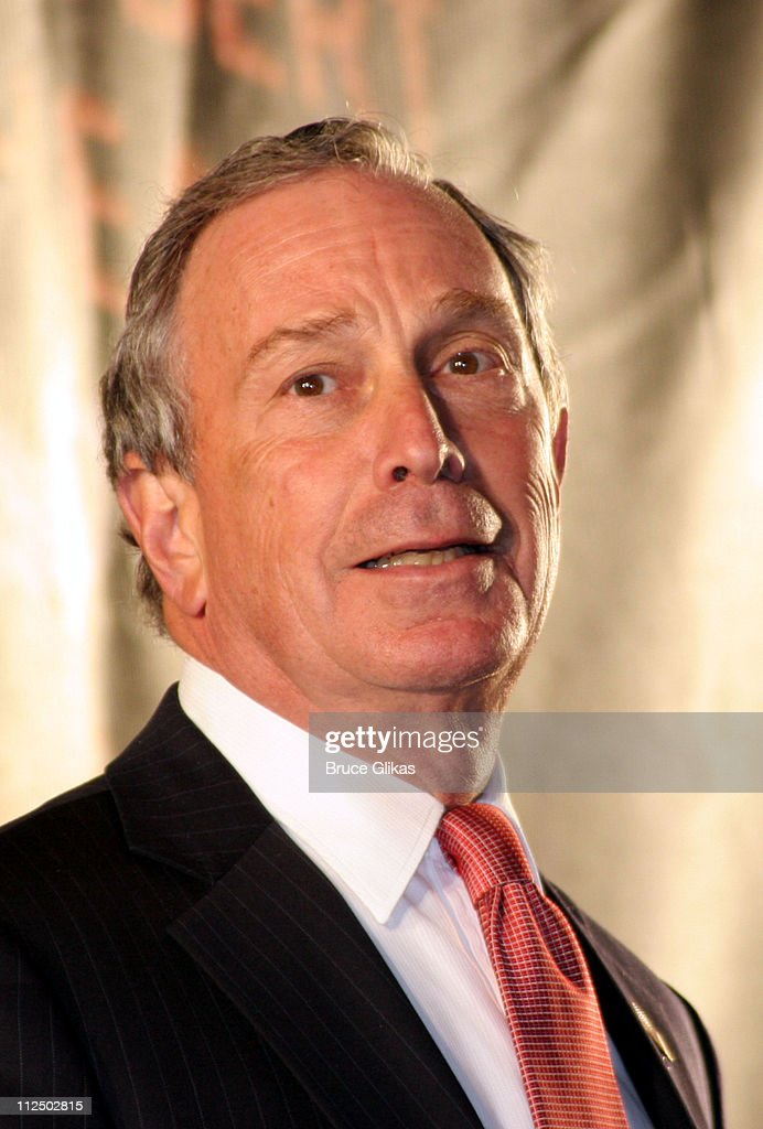 Mayor Michael R. Bloomberg during Broadway's Plymouth and Royale Renamed as The Schoenfeld Theater and The Jacobs Theater at 45th Street - The Theater District in New York City, New York, United States.