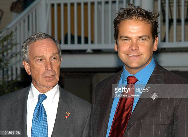 Mayor Mike Bloomberg and Lachlan Murdoch during 2nd Annual Liberty Awards Honoring Everyday Heroes In New York at Gracie Mansion in New York City New...