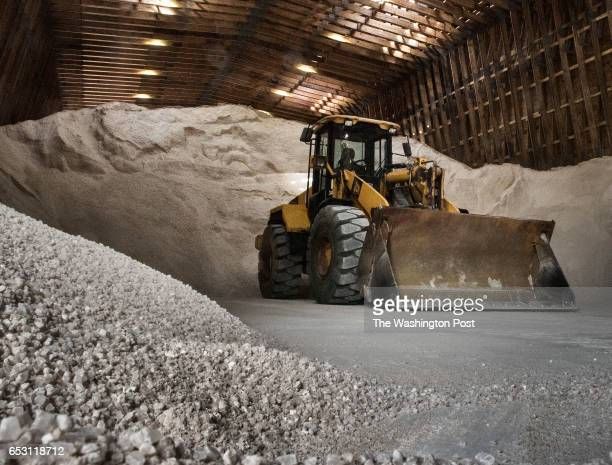Mayor Muriel Bowser and Administration officials hold a press conference at the South Capitol Street Salt Storage Facility to give an update on...