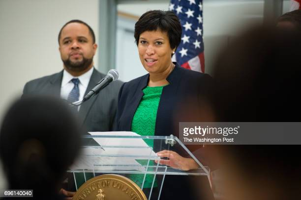 Mayor Muriel Bowser announced that Dr Jenifer Smith would lead the Department of Forensic Sciences during a press conference at the Department of...