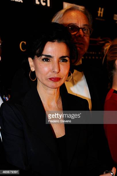 Mayor of 7th district of Paris Rachida Dati during the 29th International Automobile Festival on January 28 2014 in Paris France