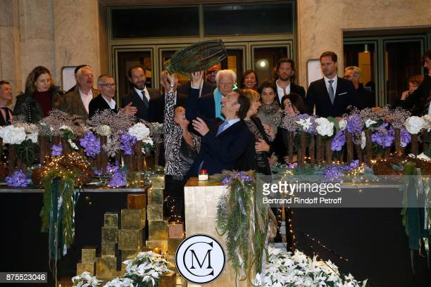 Mayor of 8th District of Paris Jeanne D'hauteserre President of the 'Comite Montaigne' JeanClaude Cathalan Stephane Bern and 'Comite Montaigne'...