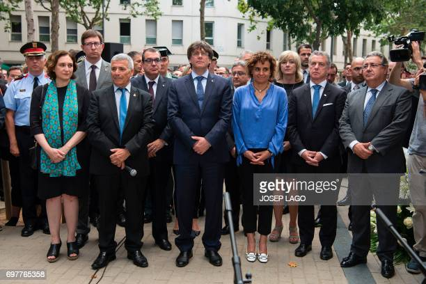 Mayor of Barcelona Ada Colau President of Catalan Association of Terrorism Victims Jose Vargas President of the Catalan regional government Carles...