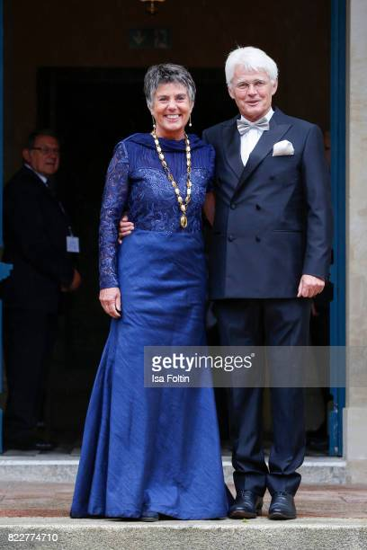 Mayor of Bayreuth Brigitte MerkErbe and her husband Thomas Erbe attend the Bayreuth Festival 2017 Opening on July 25 2017 in Bayreuth Germany