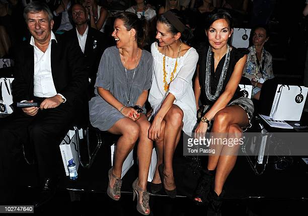 R Mayor of Berlin Klaus Wowereit actress Alexandra Neldel Susan Hoecke and Nadine Warmuth at the Designer For Tomorrow Show during the Mercedes Benz...