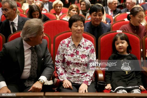 Mayor of Beyoglu Misbah Demircan Actor Kim Seol and Kim Eunja Ayla attend the preview of oscar nominee movie 'Ayla' at Grand Pera Emek Cinema in...