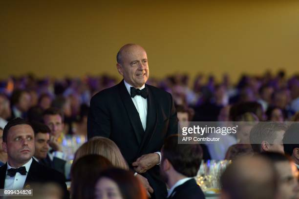 CORRECTION Mayor of Bordeaux Alain Juppe attends the dinner during the 65th 'Fete de la Fleur' at Chateau MalarticLagraviere in Leognan southwestern...