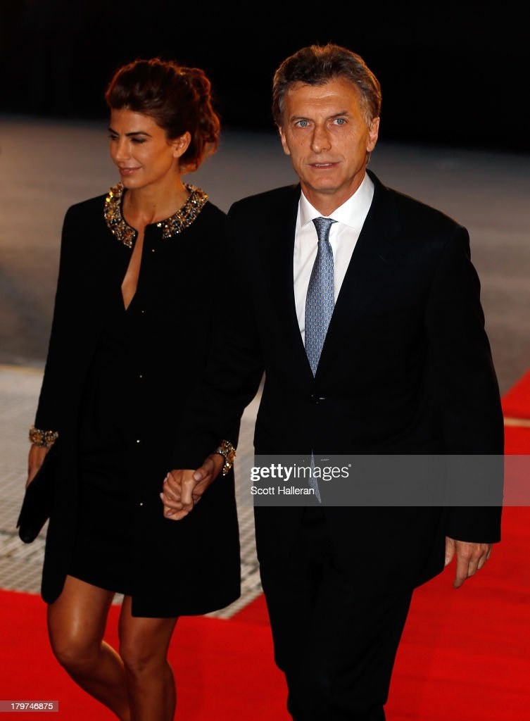 Mayor of Buenos Aires, <a gi-track='captionPersonalityLinkClicked' href=/galleries/search?phrase=Mauricio+Macri&family=editorial&specificpeople=773012 ng-click='$event.stopPropagation()'>Mauricio Macri</a> and wife Juliana Awada attend the Opening Ceremony of the 125th IOC Session at Teatro Colon on September 6, 2013 in Buenos Aires, Argentina.