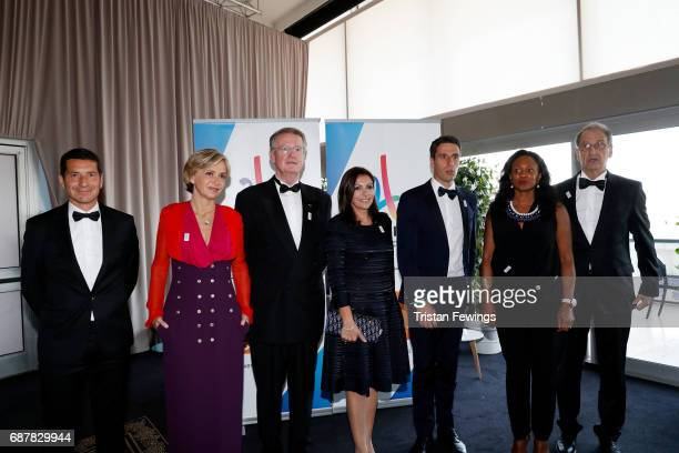 Mayor of Cannes David Lisnard President of the Regional Council of IledeFrance Valerie Pecresse CoPresident 2024 Olympics bid Bernard Lapasset Mayor...