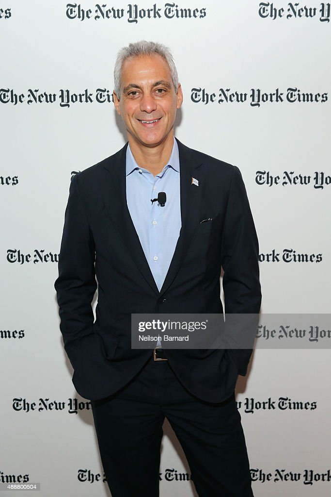 Mayor of Chicago, Rahm Emanuel attends the New York Times Schools for Tomorrow conference at New York Times Building on September 17, 2015 in New York City.