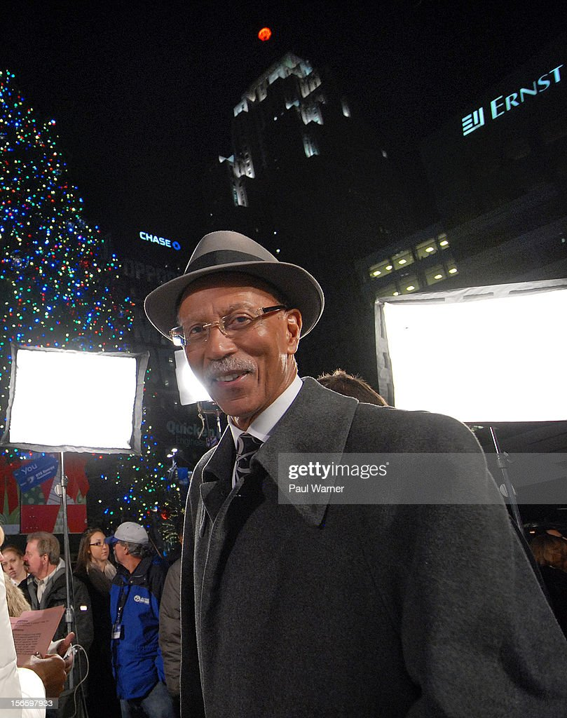 Mayor of Detroit, <a gi-track='captionPersonalityLinkClicked' href=/galleries/search?phrase=Dave+Bing&family=editorial&specificpeople=589690 ng-click='$event.stopPropagation()'>Dave Bing</a> attends Detroit's Christmas tree lighting ceremony at Campus Martius Park on November 16, 2012 in Detroit, Michigan.