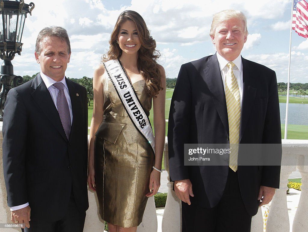 Mayor Of Doral Luigi BorgiaMiss Universe Gabriela Isler and Donald Trump attend Press Conference to announce the 63rd annual Miss Universe Pageant at...