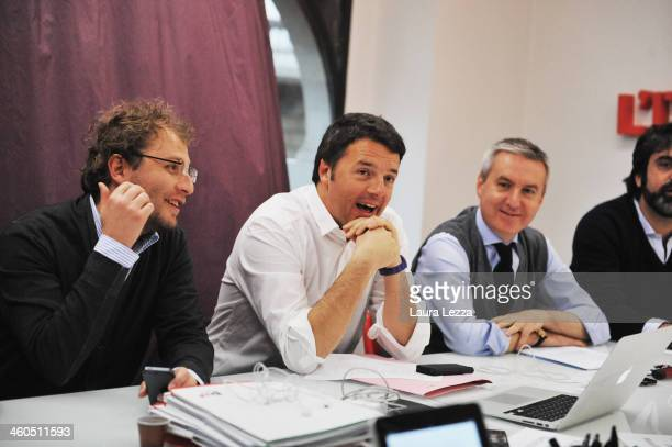 Mayor of Florence and leader of the Democratic Party Matteo Renzi attends the First PD Secretariat Meeting on January 4 2014 in Florence Italy Matteo...