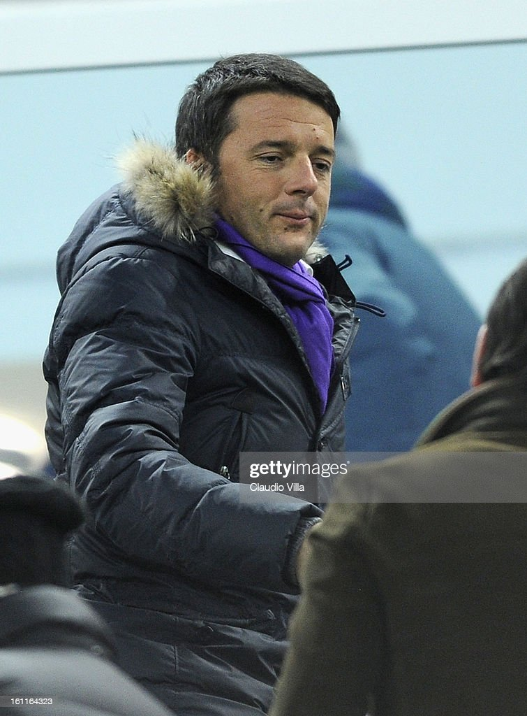 Mayor of Florence Matteo Renzi attends the Serie A match between Juventus FC and ACF Fiorentina at Juventus Arena on February 9, 2013 in Turin, Italy.