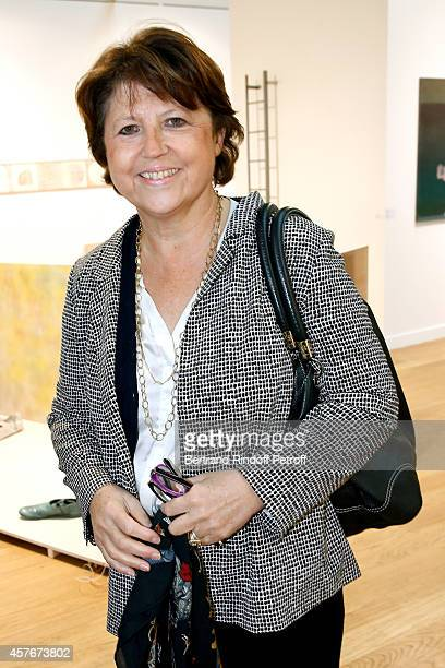 Mayor of Lille Martine Aubry attends the FIAC 2014 International Contemporary Art Fair Official Opening at Le Grand Palais on October 22 2014 in...