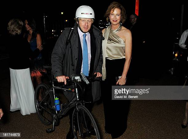 Mayor of London Boris Johnson and codirector of The Serpentine Gallery Julia PeytonJones attend a donors dinner hosted by Michael Bloomberg Graydon...