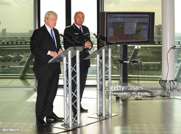 Mayor of London Boris Johnson and Deputy Commissioner of the Metropolitan Police Sir Paul Stephenson jointly launch a major new crime initiative in...