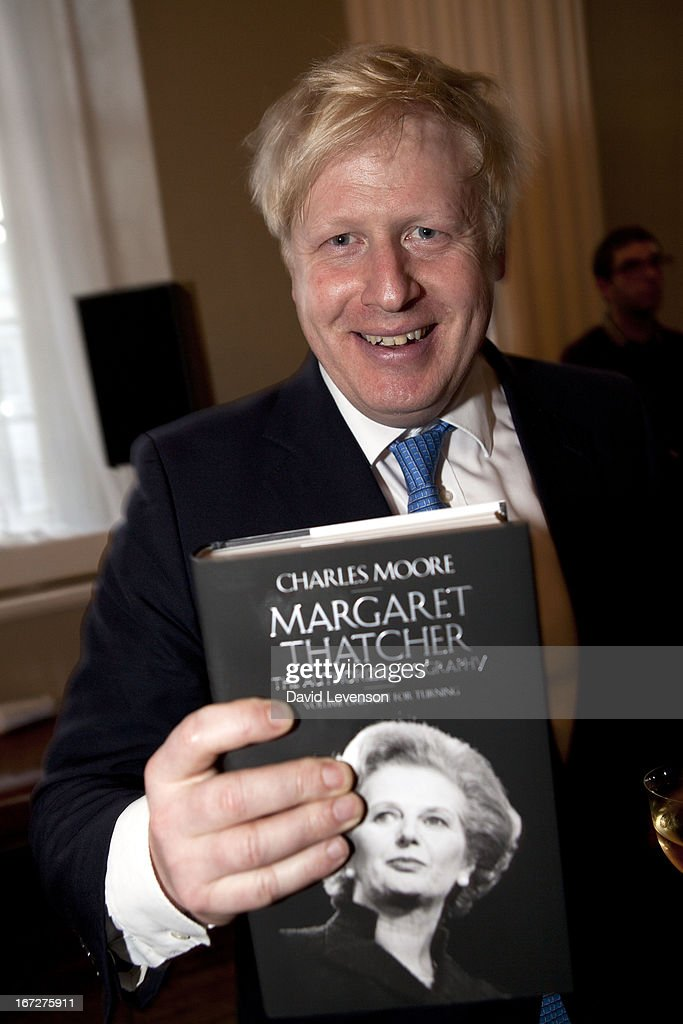 Mayor of London <a gi-track='captionPersonalityLinkClicked' href=/galleries/search?phrase=Boris+Johnson&family=editorial&specificpeople=209016 ng-click='$event.stopPropagation()'>Boris Johnson</a> attends the launch of 'Margaret Thatcher - The Authorised Biography, Volume One: Not for Turning' by Charles Moore at Banqueting House on April 23, 2013 in London, England.