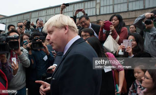Mayor of London Boris Johnson begins a sixday trade mission meeting former and current students from the UK and Beijing at the London Universities...