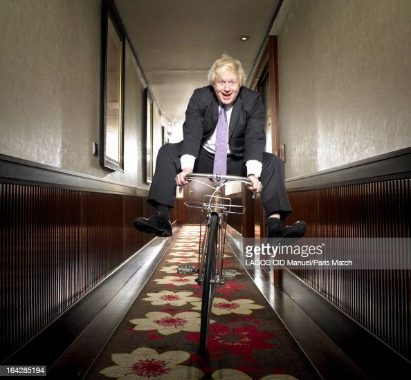Mayor of London Boris Johnson is photographed for Paris Match on March 14 2013 in Paris France
