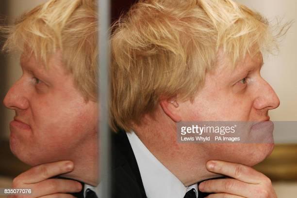 Mayor of London Boris Johnson joins Olympics Minister Tessa Jowell and Communities Secretary Hazel Blears at Stratford Town Hall to launch their...