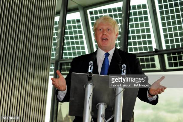 Mayor of London Boris Johnson launches a major new crime initiative in City Hall London