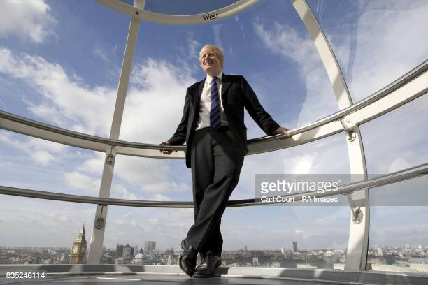 Mayor of London Boris Johnson on the London Eye on the first day of British Tourism Week to announce a new international marketing campaign called...