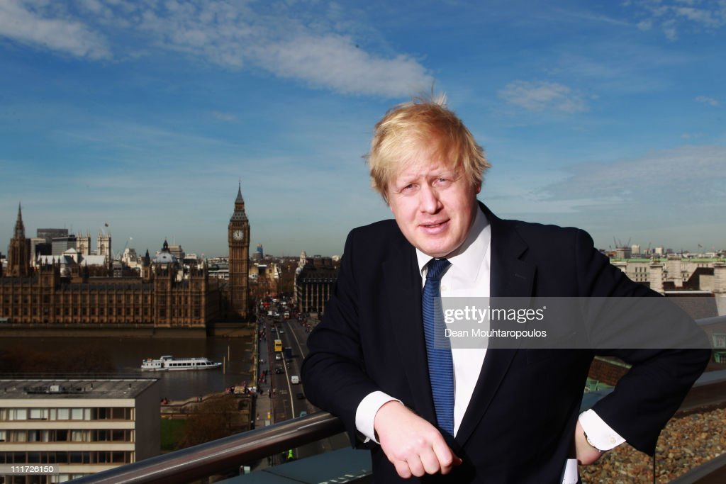 Mayor of London, Boris Johnson poses for a photo between the IOC Executive meetings, held at the Westminster Bridge Park Plaza on April 6, 2011 in London, England.