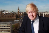 Mayor of London Boris Johnson poses for a photo between the IOC Executive meetings held at the Westminster Bridge Park Plaza on April 6 2011 in...