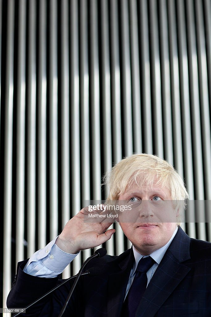 Mayor of London <a gi-track='captionPersonalityLinkClicked' href=/galleries/search?phrase=Boris+Johnson&family=editorial&specificpeople=209016 ng-click='$event.stopPropagation()'>Boris Johnson</a> speaks to journalists during a press conference at City Hall on July 18, 2011 in London, England. Johnson made comments about the current phone hacking scandal surrounding News International that has escalated with the resignation of the Metropolitan Police Commissioner Sir Paul Stephenson, the resignation of Assistant Commissioner John Yates, and the arrest of former News of the World Editor Rebekah Brooks.