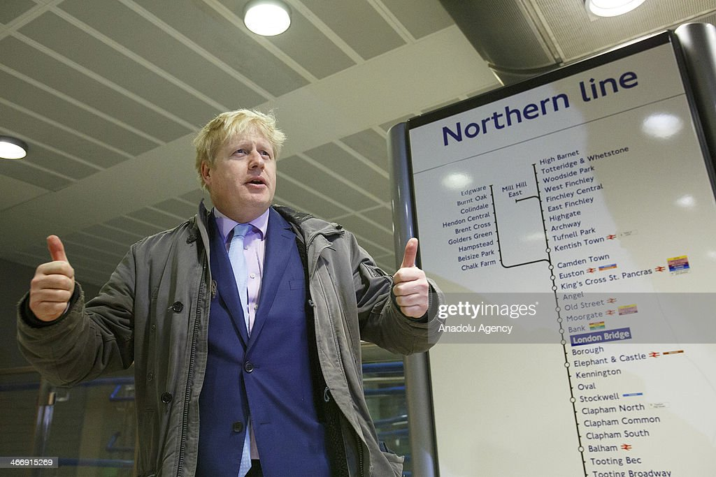 Mayor of London Boris Johnson speaks to the media over a 48 hour strike because of almost 1000 workers disemployment and closing the ticket office by Members of the Rail Maritime Transport Workers Union (RMT) and The Transport Salaried Staffs Association (TSSA) unions employed by London Underground in London, England on February 5, 2014.