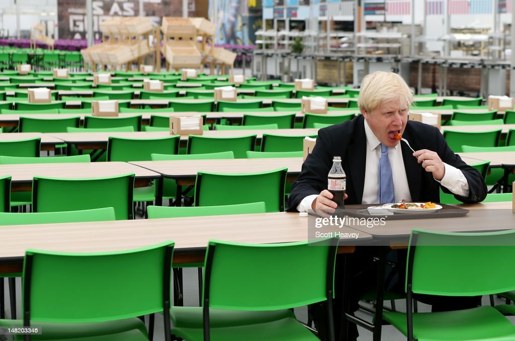 Mayor of London <a gi-track='captionPersonalityLinkClicked' href=/galleries/search?phrase=Boris+Johnson&family=editorial&specificpeople=209016 ng-click='$event.stopPropagation()'>Boris Johnson</a> visits the Olympic Park and Olympic Village on July 12, 2012 in London, England.