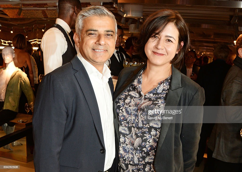 Mayor of London <a gi-track='captionPersonalityLinkClicked' href=/galleries/search?phrase=Sadiq+Khan&family=editorial&specificpeople=3431876 ng-click='$event.stopPropagation()'>Sadiq Khan</a> (L) and Londoner's Diary editor Joy Lo Dico attend the London Evening Standard Londoner's Diary 100th Birthday Party in partnership with Harvey Nichols at Harvey Nichols on May 25, 2016 in London, England.