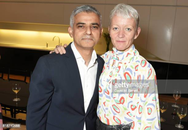 Mayor of London Sadiq Khan and Maria Balshaw attend the Mayor of London's Summer Culture Reception on July 18 2017 in London England