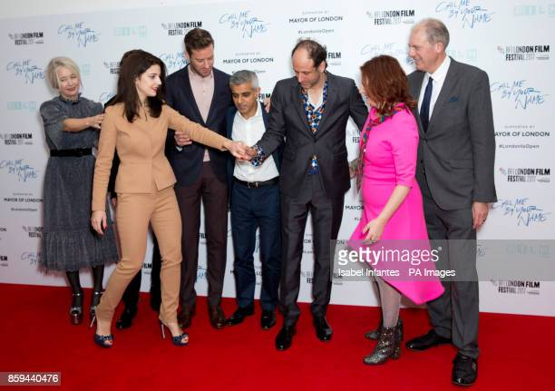 Mayor of London Sadiq Khan meets director Luca Guadagnino and the cast and production team of the film Call Me By Your Name as they attend the...