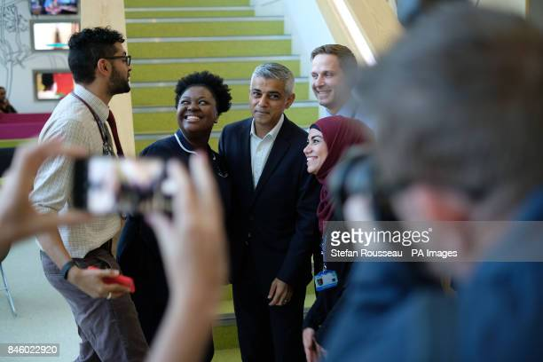 Mayor of London Sadiq Khan visits the Sir Ludwig Guttmann Health amp Wellbeing Centre in the Olympic Park in east London to give his views on...
