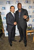 Mayor of Los Angeles Antonio Villaraigosa and actor Malik Yoba attend the 2010 Digital Empowerment Summit On BROADBAND STIMILUS at University of...