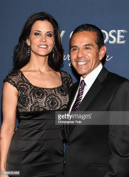 Mayor of Los Angeles Antonio Villaraigosa and Lu Parker arrive at The Hollywood Reporter's 'Nominees' Night 2012' A Celebration of the 84th Annual...