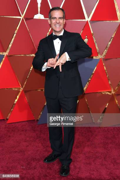 Mayor of Los Angeles Eric Garcetti attends the 89th Annual Academy Awards at Hollywood Highland Center on February 26 2017 in Hollywood California